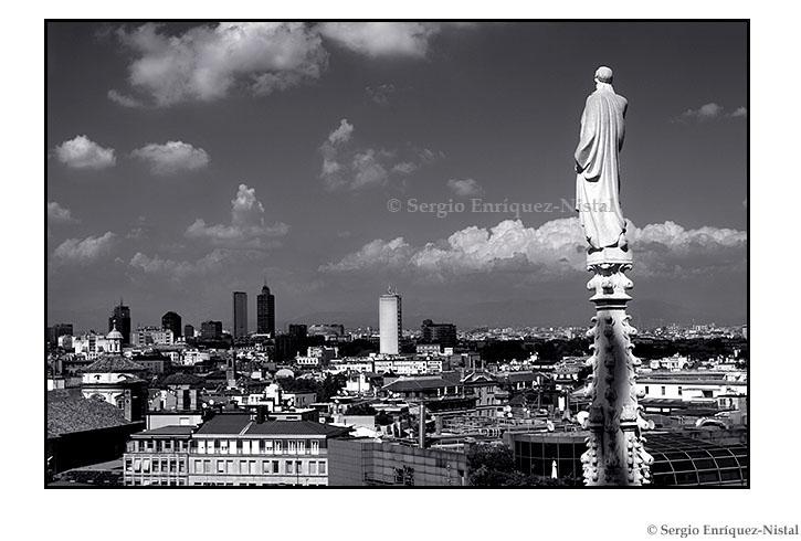 Milan from the Duomo Milano Italia