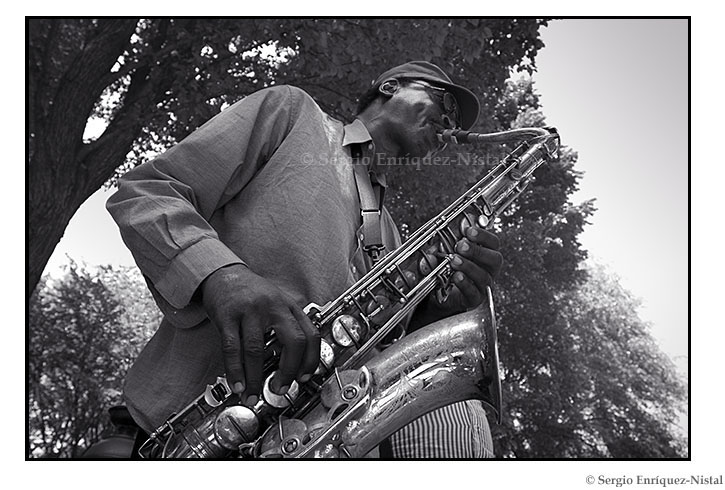 Jazz Musician in Central Park New York City