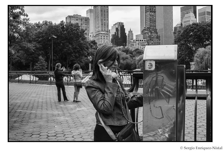 Phone Booth in Central Park New York City