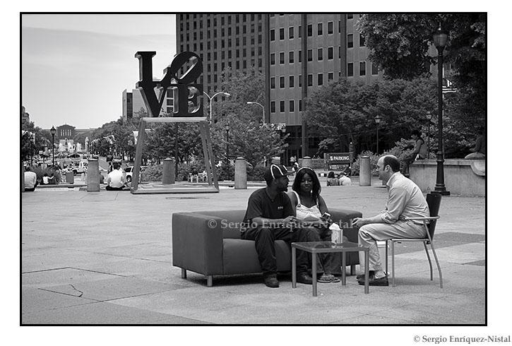Robert Indiana's Love Statue in JFK Plaza Philadelphia