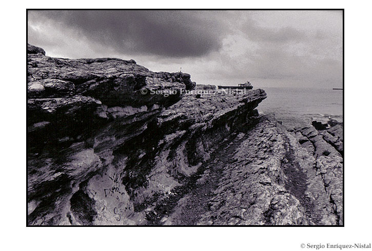 Rocks and Boat Cabo Mayor Santander