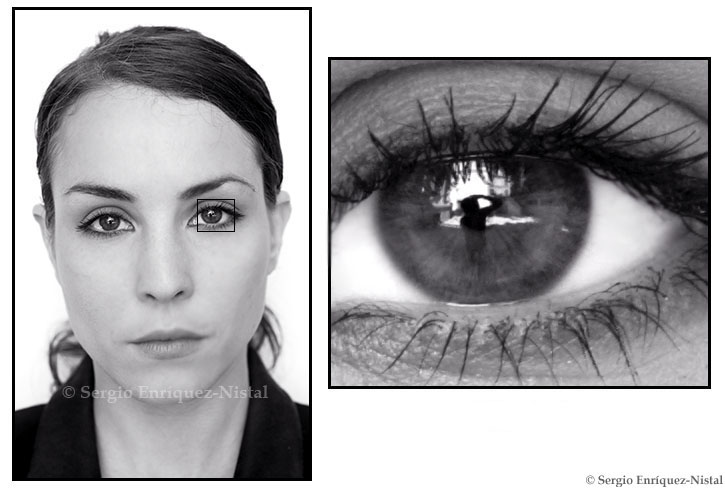 My Reflection in Noomi Rapace's Eyes